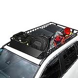 COSTWAY Universal Dachkorb aus Stahl, Auto Dachgepäckträger bis 113kg belastbar,...
